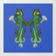 Medieval Frog Letter M Canvas Print