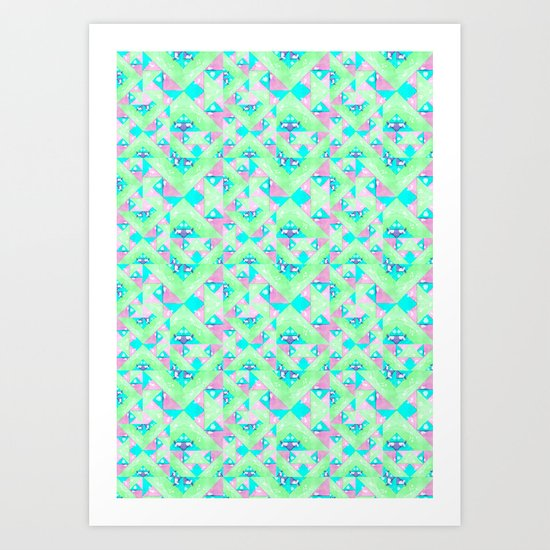 Geo Texture Art Print