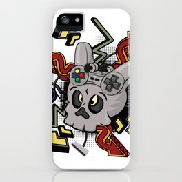 Skull player video games iPhone Case