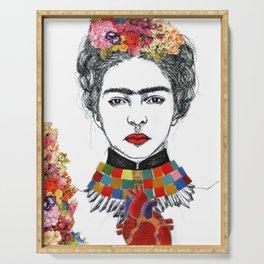 Frida Kahlo Heart Serving Tray