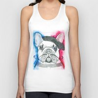 frenchie Tank Tops featuring Frenchie by Irasema Langarica