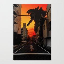 Tokyo Godzilla Canvas Print