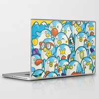 it crowd Laptop & iPad Skins featuring Penguin Crowd by Bobsmade