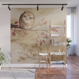 Owl love you Wall Mural