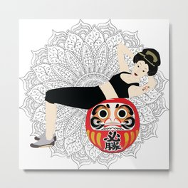 Fitness - Traditional Japanese girl in modern life Metal Print