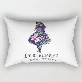 Alice floral designs - Always tea time Rectangular Pillow