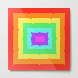 Rainbow Squares Metal Print