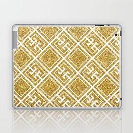 Gold Glitter Greek Pattern Laptop & iPad Skin