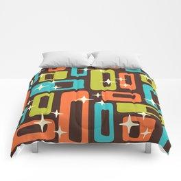 Retro Mid Century Modern Abstract Pattern 632 Comforters