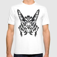 Bunny White MEDIUM Mens Fitted Tee