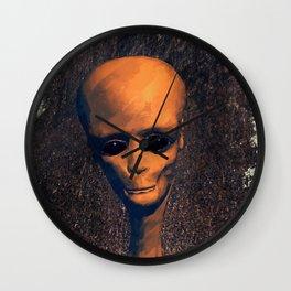Alien Portrait Wall Clock