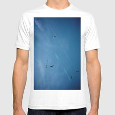 Birds of a Feather (B1) MEDIUM White Mens Fitted Tee