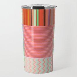 Stripes and chevron mixed color fantasy Travel Mug