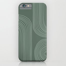 Hand drawn Geometric Lines in Forest Green 3 iPhone Case