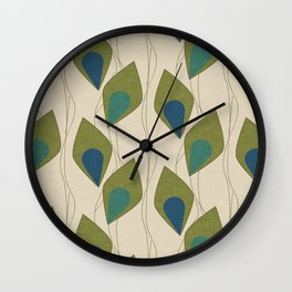 Climbing Vines Pearl Green Wall Clock