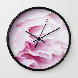 Pink Flower Petals Wall Clock