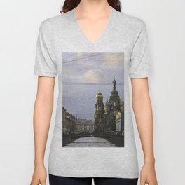 Saint Petersburg Russia Unisex V-Neck