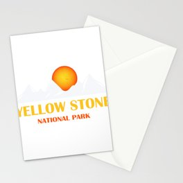Yellowstone National Park Vintage Retro Graphic Stationery Cards