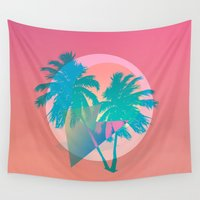miami Wall Tapestries featuring MIAMI by DIVIDUS