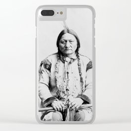 Sitting Bull Clear iPhone Case