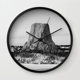 Devil's Tower Wyoming Wall Clock