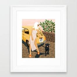 Tour #illustration Framed Art Print