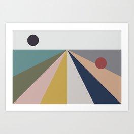black sun, red sun Art Print