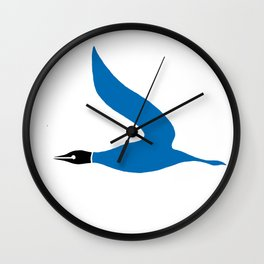 The Blue Goose Wall Clock