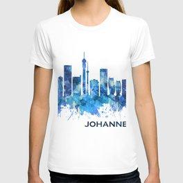 Johannesburg South Africa Skyline Blue T-shirt