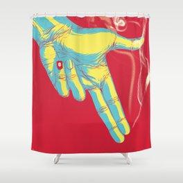 Rock, Paper, Scissors... Gun Always Wins Shower Curtain