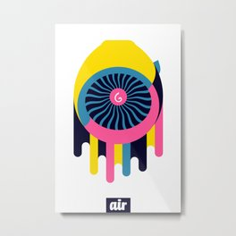 Air Engine Metal Print