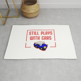 Still Plays With Cars Funny Mechanic Quote Rug