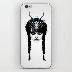 Wakeful Warrior - In Blue iPhone Skin