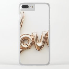 Balloon Love (Color) Clear iPhone Case