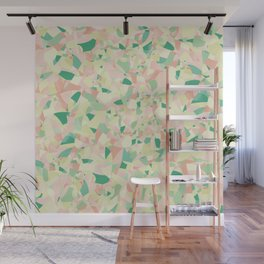 Pastel colours mosaic pattern with Flower of Life Wall Mural