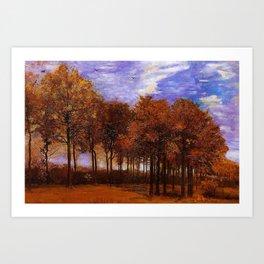 Autumn Landscape by Vincent van Gogh Art Print