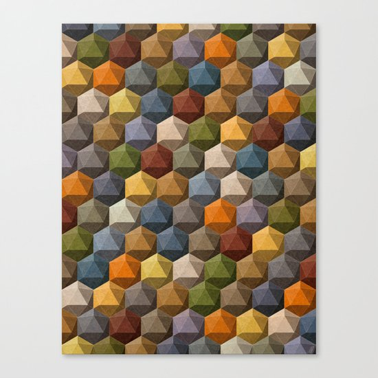 icosahedron multicolor Canvas Print