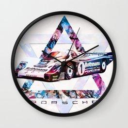 Porsche 956 C Coupé // Le Mans Race Cars Wall Clock