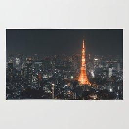 Tokyo tower at night Rug
