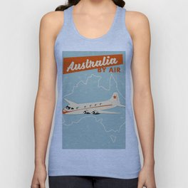 Australia Vintage style travel poster Unisex Tank Top