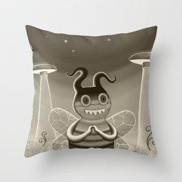 bee movie noir Throw Pillow