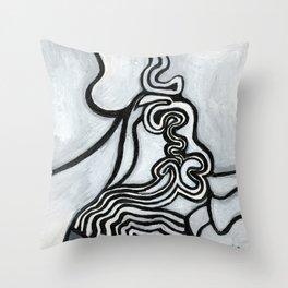 Stacked sludge Throw Pillow