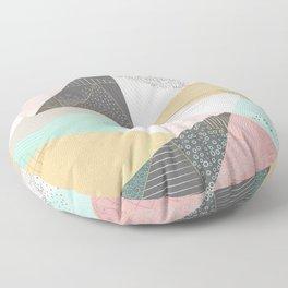 Stylish gold triangles geometric design Floor Pillow