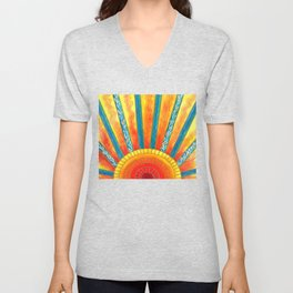 Sunny with Zero Chance of Clouds Unisex V-Neck