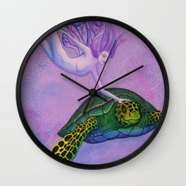 Turtle Fairie Wall Clock