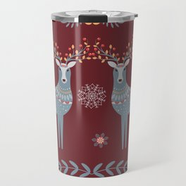 Nordic Winter Red Travel Mug