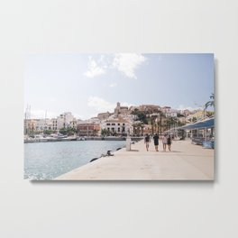 Ibiza Town Outlook Metal Print