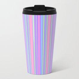 Pastel Colorful Lines Travel Mug