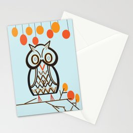 The Owl In Myriad Pro Stationery Cards