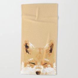 Smiling Fox Beach Towel